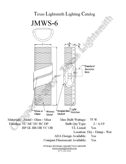JMWS-6 Spec Drawing