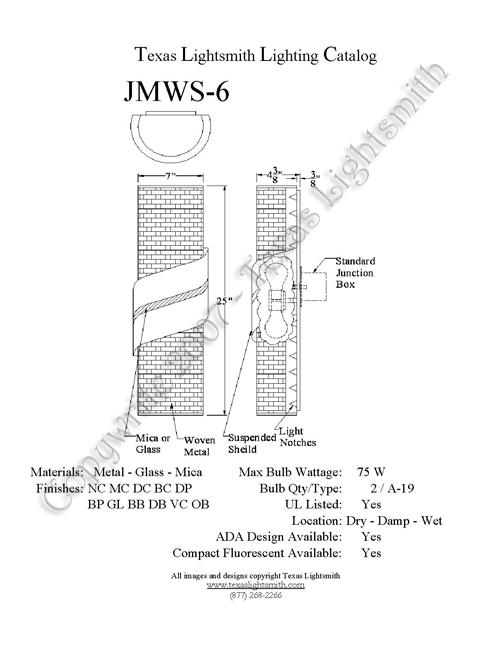 JMWS-6 Spec Drawing