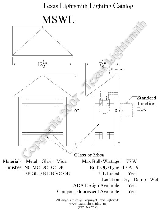 MSWL Spec Drawing
