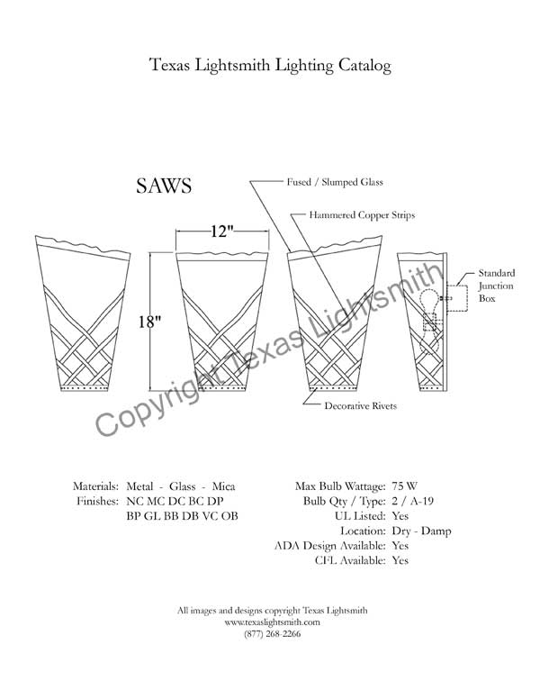 SAWS Spec Drawing