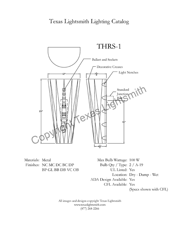 THRS-1 Spec Drawing
