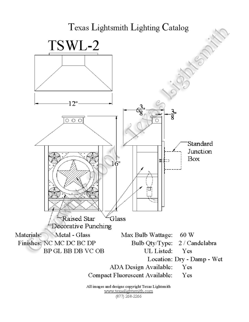 TSWL-2 Spec Drawing