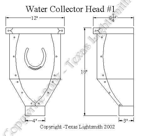Water Collector Head #1 spec drawing