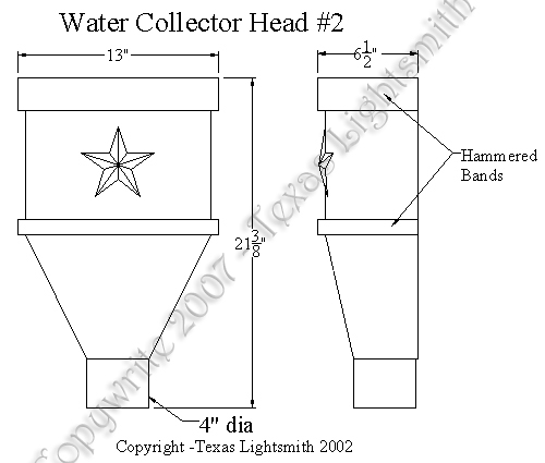 Water Collector Head #2 spec drawing