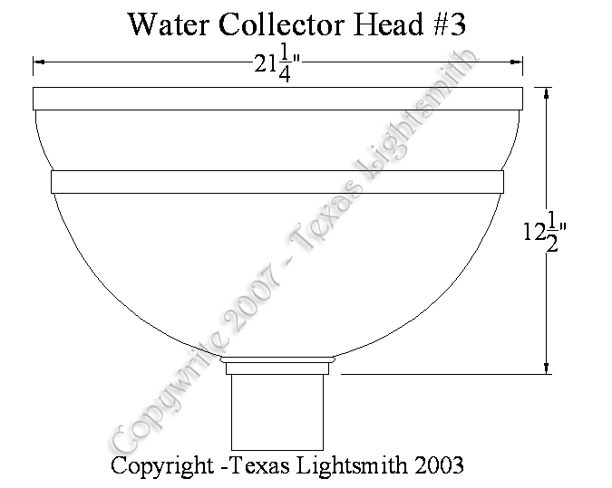 Water Collector Head #3 spec drawing