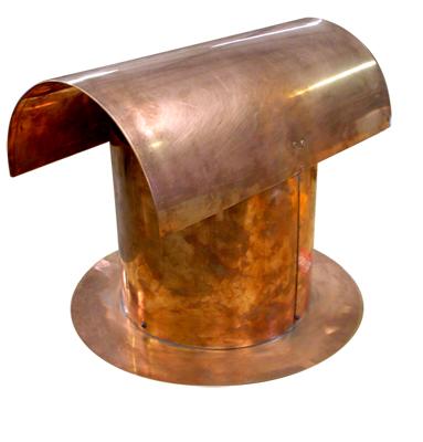 Custom Copper Chimney Cap 4