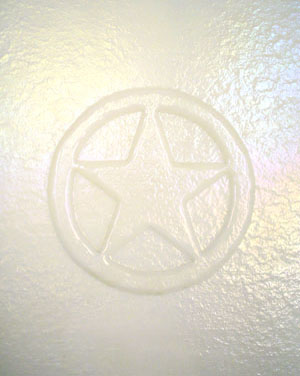 slumped glass: Texas star