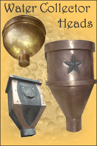 Brass, Bronze and Copper Water Collector Heads