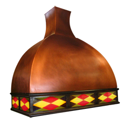 custom copper range hood Texas Lightsmith Model #47-1Lb