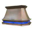 custom copper range hood Texas Lightsmith Model #33, A-L