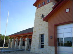 Outdoor lighting for Leander Texas Fire Station