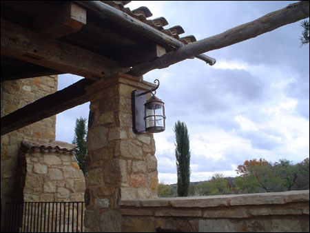 Private Residence 14 - custom electric lantern
