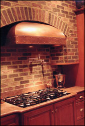 custom copper range hood at Private Residence #21