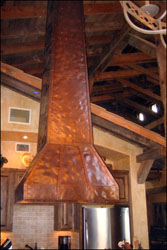 tall island copper range hood Private Residence #9