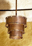 3 tiered copper pendant lighting fixture HBKPF