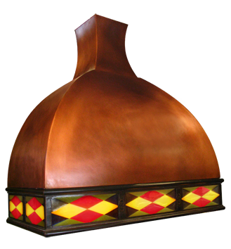 Illuminated Copper Range Hoods