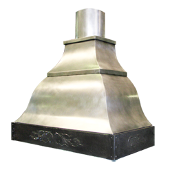 custom stainless steel range hood Texas Lightsmith Model #24, I