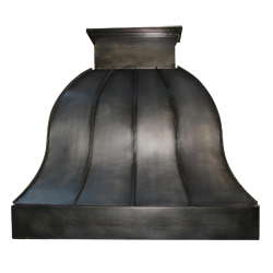 custom 25, nickel silver range hood Texas Lightsmith Model #25, C