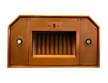 Luminescent Copper Range Hood