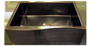 Bronze Farmhouse Sink : Copper farmhouse sink Wave Front Custom Sink