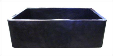 Bronze Farmhouse Sink : Custom Farmhouse Kitchen Sink: Smooth Apron, Oil Rubbed Bronze