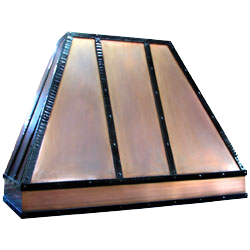 custom bronze range hood Texas Lightsmith Model #7, D