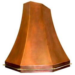 custom copper range hood Texas Lightsmith Model #36, B