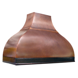 custom copper range hood Texas Lightsmith Model #24, C