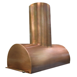 custom copper range hood Texas Lightsmith Model #38, A