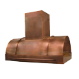custom copper range hood Texas Lightsmith Model #38, B