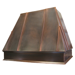 custom copper range hood Texas Lightsmith Model #39