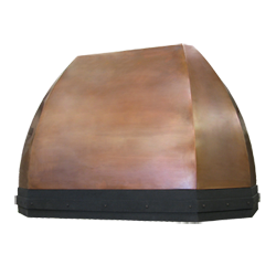 custom copper and wrought iron range hood Texas Lightsmith Model #41