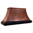 custom copper range hood Texas Lightsmith Model #4, G