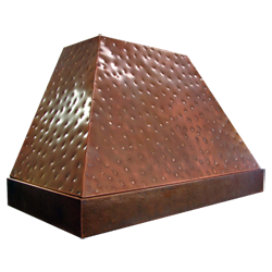 custom copper range hood Texas Lightsmith Model #7, B