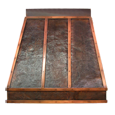 hammered copper range hood front view