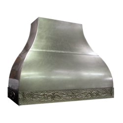 custom nickel silver range hood Texas Lightsmith Model #24, F