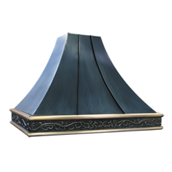 custom oil-rubbed bronze bronze range hood Texas Lightsmith Model #29, A