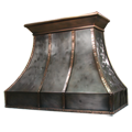 custom nickel silver and copper range hood Texas Lightsmith Model #13, J