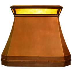 custom copper range hood Texas Lightsmith Model #20, B-L