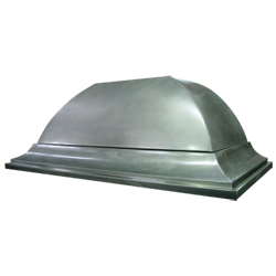 custom nickel silver range hood Texas Lightsmith Model #2