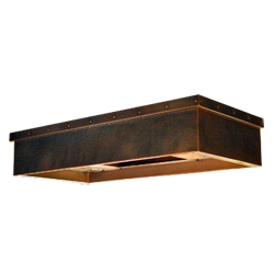 custom copper range hood Texas Lightsmith Model #31, A