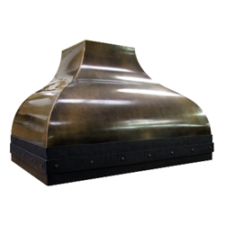 custom bronze range hood Texas Lightsmith Model #24, E