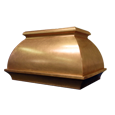 custom bronze range hood Texas Lightsmith Model #2