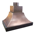 custom copper range hood Texas Lightsmith Model #10, B