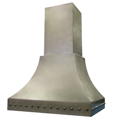 custom nickel silver range hood Texas Lightsmith Model #10, C