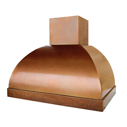 custom copper range hood Texas Lightsmith Model #12, A