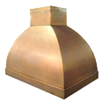 custom copper range hood Texas Lightsmith Model #12, B