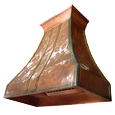custom copper range hood Texas Lightsmith Model #13, B
