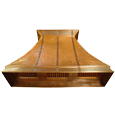 custom copper range hood Texas Lightsmith Model #13, E