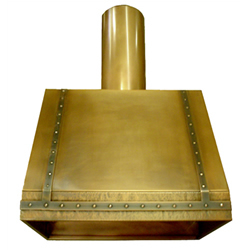 custom brass range hood Texas Lightsmith Model #15, A